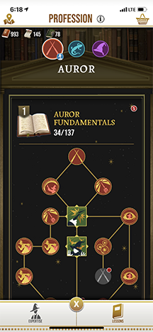 Harry Potter: Wizards Unite Skill Tree