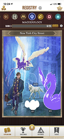 Harry Potter: Wizards Unite Registry