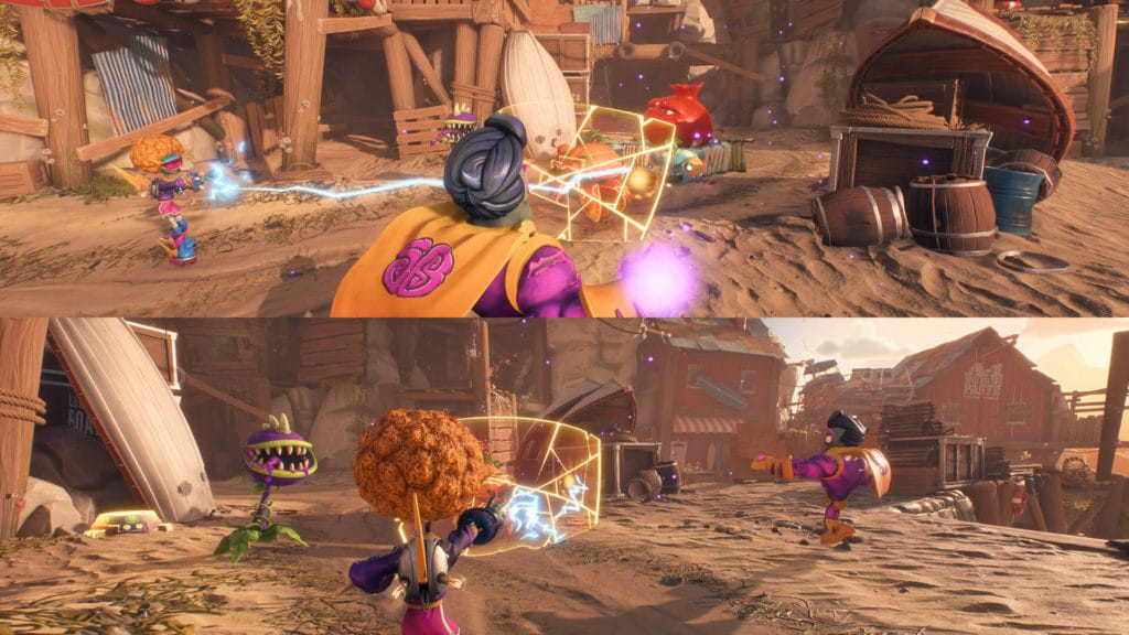 Plants vs Zombies: Battle for Neighorville split screen battle