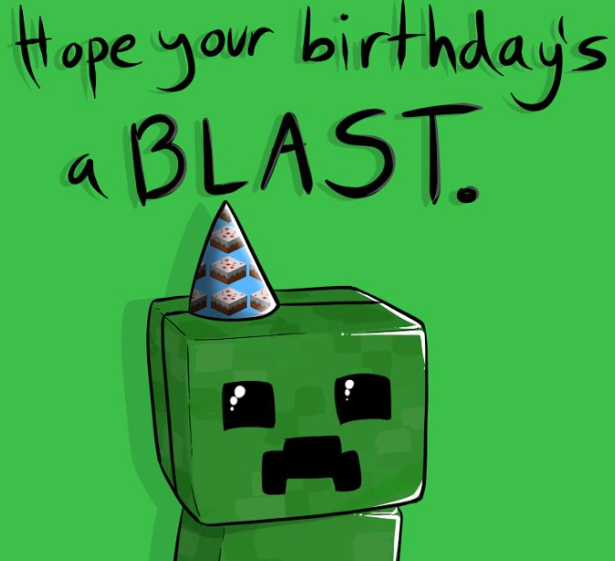 Minecraft Birthday Creeper
