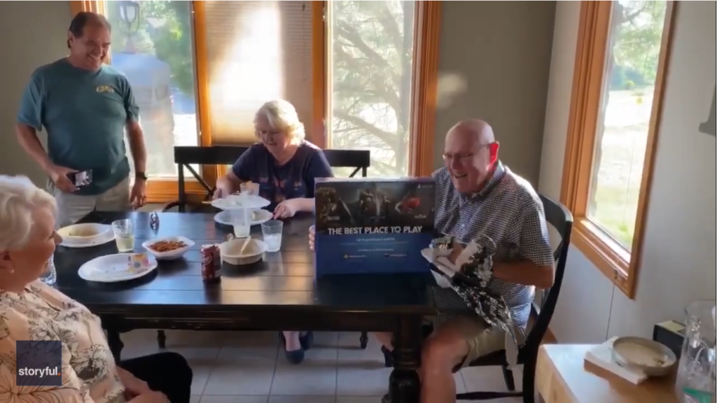 PlayStation 4 gifted to 80 year old father by kids