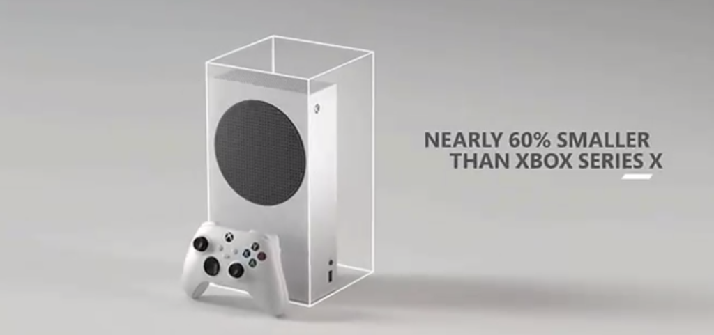 Xbox Series S is 60% smaller than the Xbox Series X